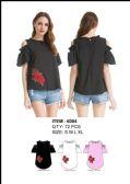 36 Units of Women's Fashion Floral Ruffle Shirt - Womens Fashion Tops