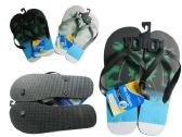 72 Units of Men's Printed Flip Flops Sizes 7-12 - Men's Flip Flops & Sandals