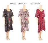48 Units of Womens Summer Sun Dress Assorted Color With Belt Assorted Size