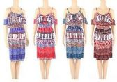 48 Units of Womens Fashion Summer Sun Dress In Assorted Sizes