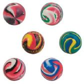 100 Units of 45mm Swirled Hi-Bounce Balls - Balls