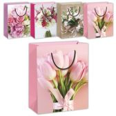 72 Units of Flower gift bag/XLarge 13x18x5.5""