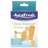96 Units of 40 Count waterproof assorted - Bandages and Support Wraps