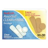 24 Units of 100 Count clear bandage - Bandages and Support Wraps