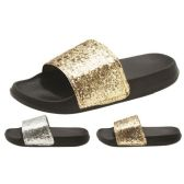 36 Units of Eva Women Glittery slippers - Womens Sandals