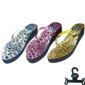 36 Units of Lady's slippers Size Leopard Pattern Color 6-11 - Women's Flip Flops