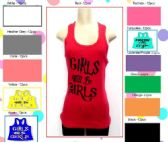 72 Units of Girls will be girls tank top 100% Cotton Assorted colors