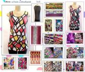 144 Units of Womens Fashion Geo Metirc  Printed Tank Top Assorted Sizes