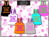 72 Units of Ladies Tank Top With Graphic Top 100% Cotton - Womens Camisoles / Tank Tops