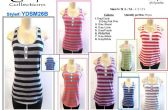96 Units of Womens Striped Tank Top Assorted Colors