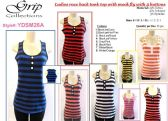 96 Units of Womens Striped Tank Top Assorted Colors - Womens Camisoles / Tank Tops