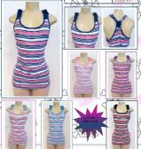 72 Units of Womens Striped Tank Top Assorted Colors