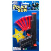"72 Units of 7"" TOY GUN W/ 5PC SOFT DARTS ON BLISTER CARD - Toy Sets"