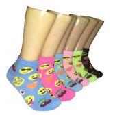 480 Units of Women's Emoji Low Cut Ankle Socks
