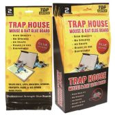 72 Units of 2 Pack mouse glue board 12x6""