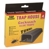 48 Units of 4 pack roach tunnel glue trap - Pest Control