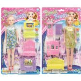 96 Units of Doll with Living Room Set - Dolls