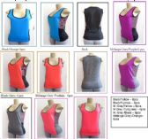 72 Units of Ladies Muscle Tank Tops Yoga Sports Wear Plus Size