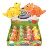 96 Units of Toy Dinosaur In Egg - Party Favors