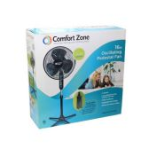 "4 Units of 16"" Black floor stand fan"