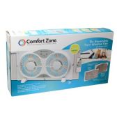 "2 Units of 9"" Twin window fan with/remote"