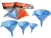 72 Units of 3 Piece Assorted Size Funnels - Auto Accessories