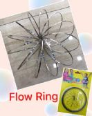 "12 Units of Flow Rings Kinetic Spring Toy--Silver 5"" Flat-Yellow Package - Toy Sets"