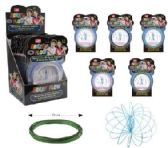 12 Units of Flow Rings Kinetic Spring Toy Glitter--Display Box - Toy Sets