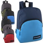 "24 Units of 15 Inch Promo Backpack - 5 Colors - Backpacks 15"" or Less"