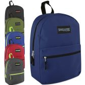 24 Units of Trailmaker Classic 17 Inch Backpack - 6 Colors - Backpacks 17""