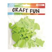 72 Units of Craft Fun Green Letters - Scrapbook Supplies