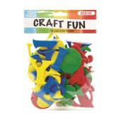 72 Units of Craft Fun Mixed Colors Letters - Scrapbook Supplies