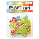72 Units of Craft Fun Assorted Fruits - Scrapbook Supplies