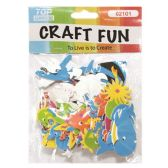 72 Units of Craft Fun Assorted Ocean Animals - Scrapbook Supplies