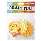 72 Units of Craft Fun Sun Moon Star - Scrapbook Supplies