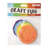 72 Units of Craft Fun Smiley Glitter Face - Scrapbook Supplies