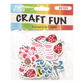 72 Units of Craft Fun Assorted Insects - Scrapbook Supplies