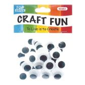96 Units of 20mm craft eye - Craft Kits