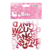 144 Units of Twenty Six Count Alphabet Baby Pink - Baby Shower