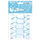 144 Units of Five Count Candy Baby Blue - Baby Shower