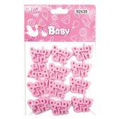 144 Units of Twelve Count baby girl - Baby Shower