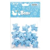 144 Units of Twelve Count Bear Baby Blue - Baby Shower