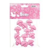 144 Units of Mini umbrella Baby Pink - Baby Shower
