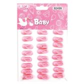 144 Units of Twenty Four Count Mini Booties Baby Pink - Baby Shower