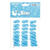 144 Units of Twenty Four Count Mini Booties Baby Blue - Baby Shower