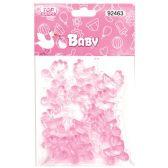 144 Units of Twelve Count Stroller Baby Pink - Baby Shower