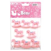 144 Units of Eight Count Horse Baby Pink - Baby Shower