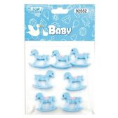 144 Units of Eight Count Horse Baby Blue - Baby Shower