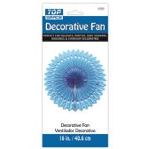 96 Units of Sixteen Inch Decorative Fan Blue - Party Center Pieces