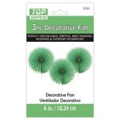 96 Units of Three Piece decoration Fan Green - Party Center Pieces